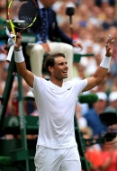 Rafael Nadal following victory over Jo-Wilfred Tsonga on day six of the Wimbledon Championships at the All England Lawn Tennis and Croquet Club, Wimbledon. (Photo by Mike Egerton/PA Images via Getty Images)