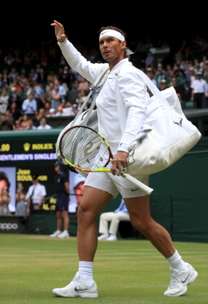 Rafael Nadal makes his way onto centre court on day seven of the Wimbledon Championships at the All England Lawn Tennis and Croquet Club, Wimbledon. (Photo by Adam Davy/PA Images via Getty Images)