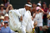 Rafael Nadal walks on to the court on day nine of the Wimbledon Championships at the All England Lawn Tennis and Croquet Club, Wimbledon. (Photo by Steve Paston/PA Images via Getty Images)