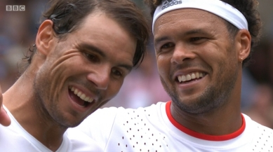 Rafael Nadal makes short work of Jo-Wilfried Tsonga at Wimbledon