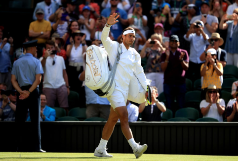 Rafael Nadal ahead of his match against Nick Kyrgios on day four of the Wimbledon Championships at the All England Lawn Tennis and Croquet Club, Wimbledon. (Photo by Adam Davy/PA Images via Getty Images)