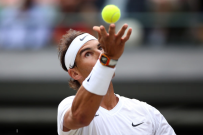 Rafael Nadal in action on day nine of the Wimbledon Championships at the All England Lawn Tennis and Croquet Club, Wimbledon. (Photo by Steve Paston/PA Images via Getty Images)