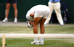 Rafael Nadal rues a missed shot during the Semi-Final match on centre court on day eleven of the Wimbledon Championships at the All England Lawn Tennis and Croquet Club, Wimbledon. (Photo by Victoria Jones/PA Images via Getty Images)