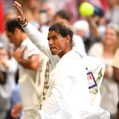 Rafael Nadal after his loss in the Semi-Final match on centre court on day eleven of the Wimbledon Championships at the All England Lawn Tennis and Croquet Club, Wimbledon. (Photo by Victoria Jones/PA Images via Getty Images)
