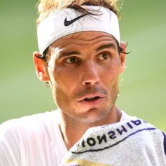 Rafael Nadal during the Semi-Final match on centre court on day eleven of the Wimbledon Championships at the All England Lawn Tennis and Croquet Club, Wimbledon. (Photo by Victoria Jones/PA Images via Getty Images)