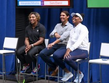 NEW YORK, NEW YORK - AUGUST 22: (L-R) Serena Williams, Rafael Nadal and Venus Williams attend the 2019 Palace Invitational at Lotte New York Palace on August 22, 2019 in New York City. (Photo by Jamie McCarthy/Getty Images for Lotte New York Palace)