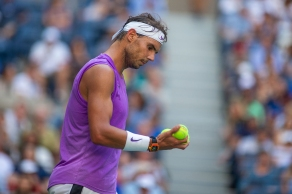 2019 US Open Tennis Tournament- Day Six. Rafael Nadal of Spain during his match against Hyeon Chung of Korea in the Men's Singles round three match on Arthur Ashe Stadium during the 2019 US Open Tennis Tournament at the USTA Billie Jean King National Tennis Center on August 31st, 2019 in Flushing, Queens, New York City. (Photo by Tim Clayton/Corbis via Getty Images)