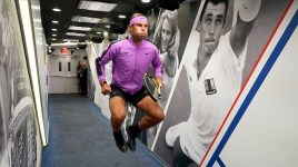 August 27, 2019 - Rafael Nadal prepares to walk on court at the 2019 US Open. (Photo by Darren Carroll/USTA)