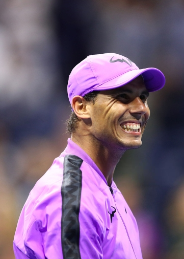 NEW YORK, NEW YORK - AUGUST 27: Rafael Nadal of Spain celebrates victory after defeating John Millman of Australia during their Men's Singles first round match on day two of the 2019 US Open at the USTA Billie Jean King National Tennis Center on August 27, 2019 in the Flushing neighborhood of the Queens borough of New York City. (Photo by Clive Brunskill/Getty Images)