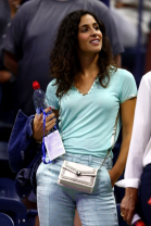 NEW YORK, NEW YORK - AUGUST 27: Xisca Perello looks on during the Men's Singles first round match between Rafael Nadal of Spain and John Millman of Australia on day two of the 2019 US Open at the USTA Billie Jean King National Tennis Center on August 27, 2019 in the Flushing neighborhood of the Queens borough of New York City. (Photo by Clive Brunskill/Getty Images)