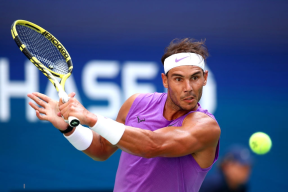 NEW YORK, NEW YORK - AUGUST 31: Rafael Nadal of Spain returns a shot during his Men's Singles third round match against Hyeon Chung of South Korea on day six of the 2019 US Open at the USTA Billie Jean King National Tennis Center on August 31, 2019 in Queens borough of New York City. (Photo by Clive Brunskill/Getty Images)