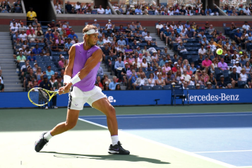 NEW YORK, NEW YORK - AUGUST 31: Rafael Nadal of Spain returns a shot during his Men's Singles third round match against Hyeon Chung of South Korea on day six of the 2019 US Open at the USTA Billie Jean King National Tennis Center on August 31, 2019 in Queens borough of New York City. (Photo by Emilee Chinn/Getty Images)