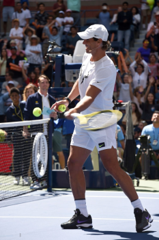 NEW YORK, NEW YORK - AUGUST 24: Tennis champion Rafael Nadal attends Arthur Ashe Kids' Day at USTA Billie Jean King National Tennis Center on August 24, 2019 in New York City. (Photo by Gary Gershoff/Getty Images)