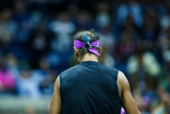 NEW YORK, NEW YORK - SEPTEMBER 02: Rafael Nadal of Spain in between points during his fourth round Men's Singles match against Marin Cilic of Croatia on day eightof the US Open at the USTA Billie Jean King National Tennis Center on September 02, 2019 in Queens borough in New York City. (Photo by Chaz Niell/Getty Images)