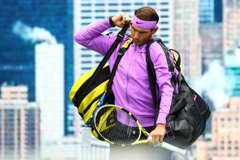 NEW YORK, NEW YORK - SEPTEMBER 08: Rafael Nadal of Spain walks on court before his Men's Singles final match against Daniil Medvedev of Russia on day fourteen of the 2019 US Open at the USTA Billie Jean King National Tennis Center on September 08, 2019 in the Queens borough of New York City. (Photo by Clive Brunskill/Getty Images)