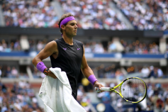 NNEW YORK, NEW YORK - SEPTEMBER 08: Rafael Nadal of Spain is seen during his Men's Singles final match against Daniil Medvedev of Russia on day fourteen of the 2019 US Open at the USTA Billie Jean King National Tennis Center on September 08, 2019 in the Queens borough of New York City. (Photo by Mike Stobe/Getty Images)
