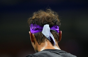 Rafael Nadal of Spain plays Diego Schwartzman of Argentina during their men's Singles Quarterfinals match at the 2019 US Open at the USTA Billie Jean King National Tennis Center in New York on September 4, 2019. (Photo by Johannes EISELE / AFP) (Photo credit should read JOHANNES EISELE/AFP/Getty Images)