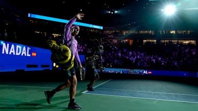 September 4, 2019 - Rafael Nadal walks on court at the 2019 US Open. (Photo by Darren Carroll/USTA)