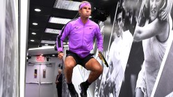 September 6, 2019 - Rafael Nadal prepares to walk on court for a semifinal match against Matteo Berrettini at the 2019 US Open. (Photo by Garrett Ellwood/USTA)