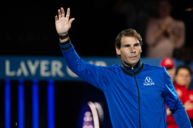 GENEVA, SWITZERLAND - SEPTEMBER 20: Rafael Nadal of Team Europe enters the arena during Day 1 of the Laver Cup 2019 at Palexpo on September 20, 2019 in Geneva, Switzerland. The Laver Cup will see six players from the rest of the World competing against their counterparts from Europe. Team World is captained by John McEnroe and Team Europe is captained by Bjorn Borg. The tournament runs from September 20-22. (Photo by RvS.Media/Robert Hradil/Getty Images)