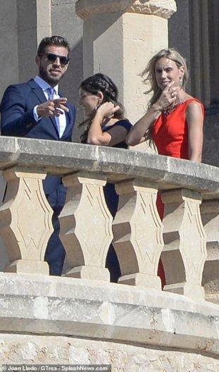 Maria Isabel and her boyfriend at Rafa's wedding