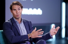 MADRID, SPAIN - OCTOBER 09: The Ambassador of Telefonica and tennis player, Rafa Nadal, is seen visiting 42Madrid, an education model in which students can learn without books, teachers or tutored classes, by Telefonica Foundation on October 09, 2019 in Madrid, Spain. (Photo by Eduardo Parra/Europa Press via Getty Images)