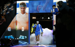 Rafael Nadal walks on to court on day four of the Nitto ATP Finals at The O2 Arena, London. (Photo by Steven Paston/PA Images via Getty Images)