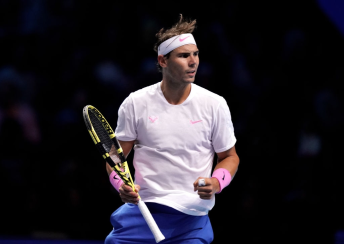 Rafael Nadal on day two of the Nitto ATP Finals at The O2 Arena, London. (Photo by John Walton/PA Images via Getty Images)
