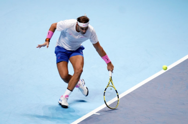 Rafael Nadal in action on day two of the Nitto ATP Finals at The O2 Arena, London. (Photo by John Walton/PA Images via Getty Images)
