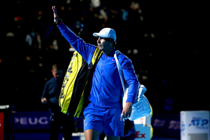 Rafael Nadal leaves the court after defeating Daniil Medvedev on day four of the Nitto ATP Finals at The O2 Arena, London. (Photo by Steven Paston/PA Images via Getty Images)