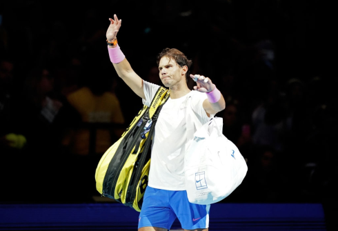 Rafael Nadal waves to the crowd on day two of the Nitto ATP Finals at The O2 Arena, London. (Photo by John Walton/PA Images via Getty Images)